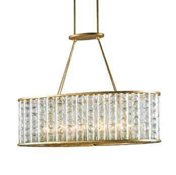 Currey & Company Frinton Dutch Gold 10-Light 40'' Wide Island Light