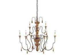 Currey & Company Mansion Gold Nine-Light 48'' Wide Grand Chandelier