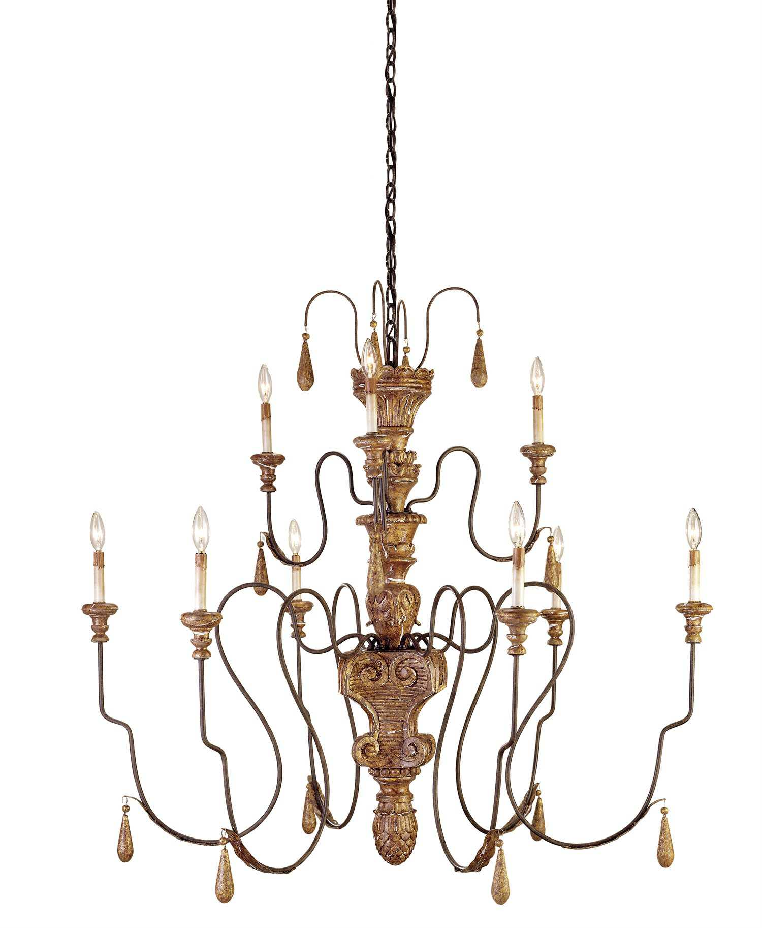 Currey And Company Warranty: Currey & Company Mansion Gold Nine-Light 48'' Wide Grand
