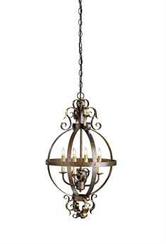 Currey & Company Coronation Sphere Cupertino Four-Light 16'' Wide Mini-Chandelier