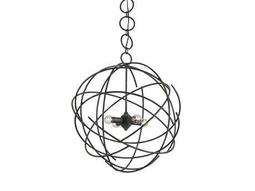 Currey & Company Belfry Black Iron Four-Light 24'' Wide Chandelier
