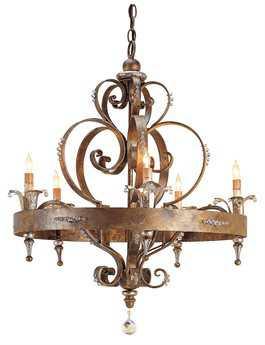 Currey & Company Salzburg Rhine Gold Five-Light 27'' Wide Chandelier