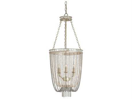 Currey & Company Socialite Silver Three-Light 14'' Wide Mini-Chandelier