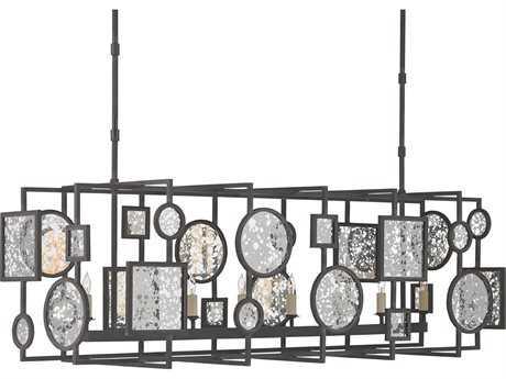 Currey & Company Gallerist Blacksmith Eight-Light Island Light