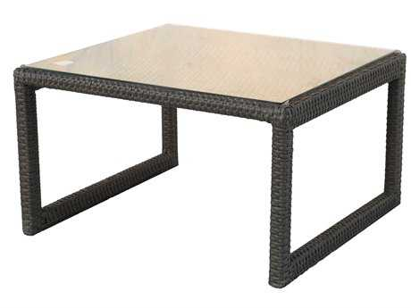 Darlee Outdoor Living Vienna Wicker Espresso 25 Square End Table