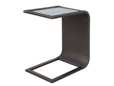 Darlee Outdoor Living Vienna Wicker Espresso 24 x 16 End Table