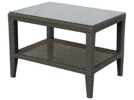 Darlee Outdoor Vienna Wicker Espresso 29 x 23 Rectangular End Table