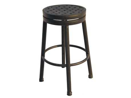 Darlee Outdoor Living Standard Backless Replacement Round Bar Stool Seat Cushion PatioLiving