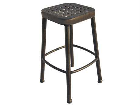 Darlee Outdoor Living Standard Backless Replacement Square Bar Stool Seat Cushion PatioLiving