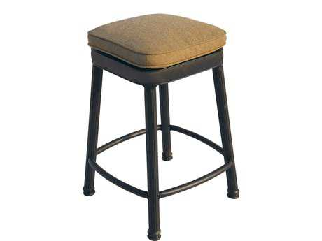 Darlee Outdoor Living Quick Ship Backless Cast Aluminum Antique Bronze Square Counter Height Stool