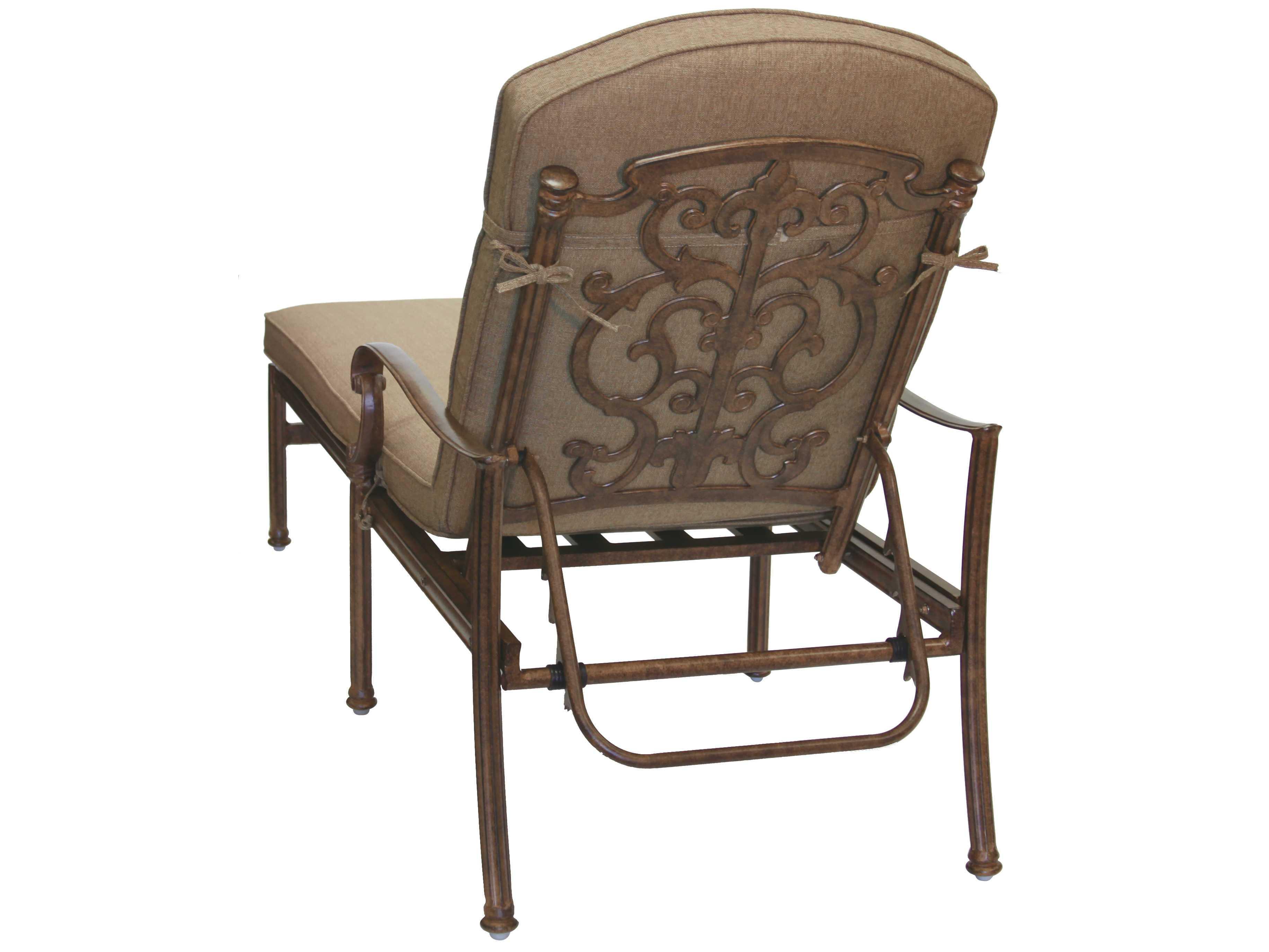 Darlee outdoor living standard santa barbara cast aluminum for Cast aluminum chaise