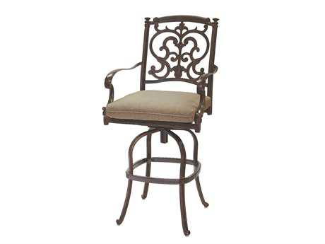 Darlee Outdoor Living Standard Santa Barbara Cast Aluminum Swivel Bar Stool