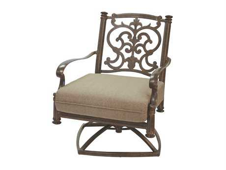 Darlee Outdoor Living Standard Santa Barbara Replacement Swivel Rocker Club Chair Seat and Back Cushion PatioLiving