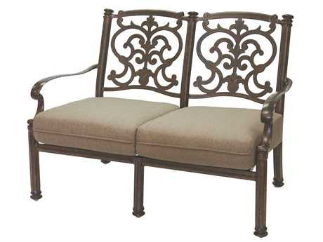 Darlee Outdoor Living Standard Santa Barbara Replacement Loveseat Seat and Back Cushion PatioLiving