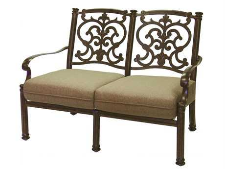 Darlee Outdoor Living Standard Santa Barbara Cast Aluminum Loveseat PatioLiving