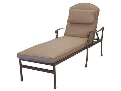 Darlee Outdoor Living Standard Florence Cast Aluminum Chaise Lounge in Antique Bronze PatioLiving