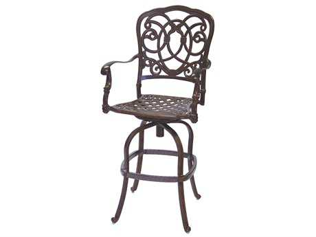 Darlee Outdoor Living Standard Florence Cast Aluminum Swivel Bar Stool