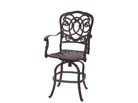 Darlee Outdoor Living Quick Ship Florence Cast Aluminum Swivel Counter Height Stool