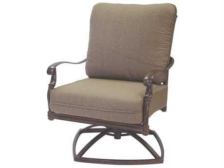 Darlee Outdoor Living Standard Florence Replacement Swivel Rocker Club Chair Seat and Back Cushion PatioLiving