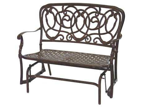 Darlee Outdoor Living Standard Florence Cast Aluminum Glider Bench in Mocha PatioLiving