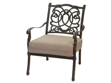 Darlee Outdoor Living Standard Florence Cast Aluminum Club Chair