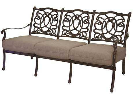 Darlee Outdoor Living Standard Florence Cast Aluminum Sofa PatioLiving