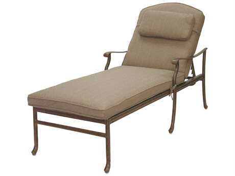 Darlee Outdoor Living Standard Sedona Replacement Chaise Lounge Seat and Back Cushion with pillow PatioLiving