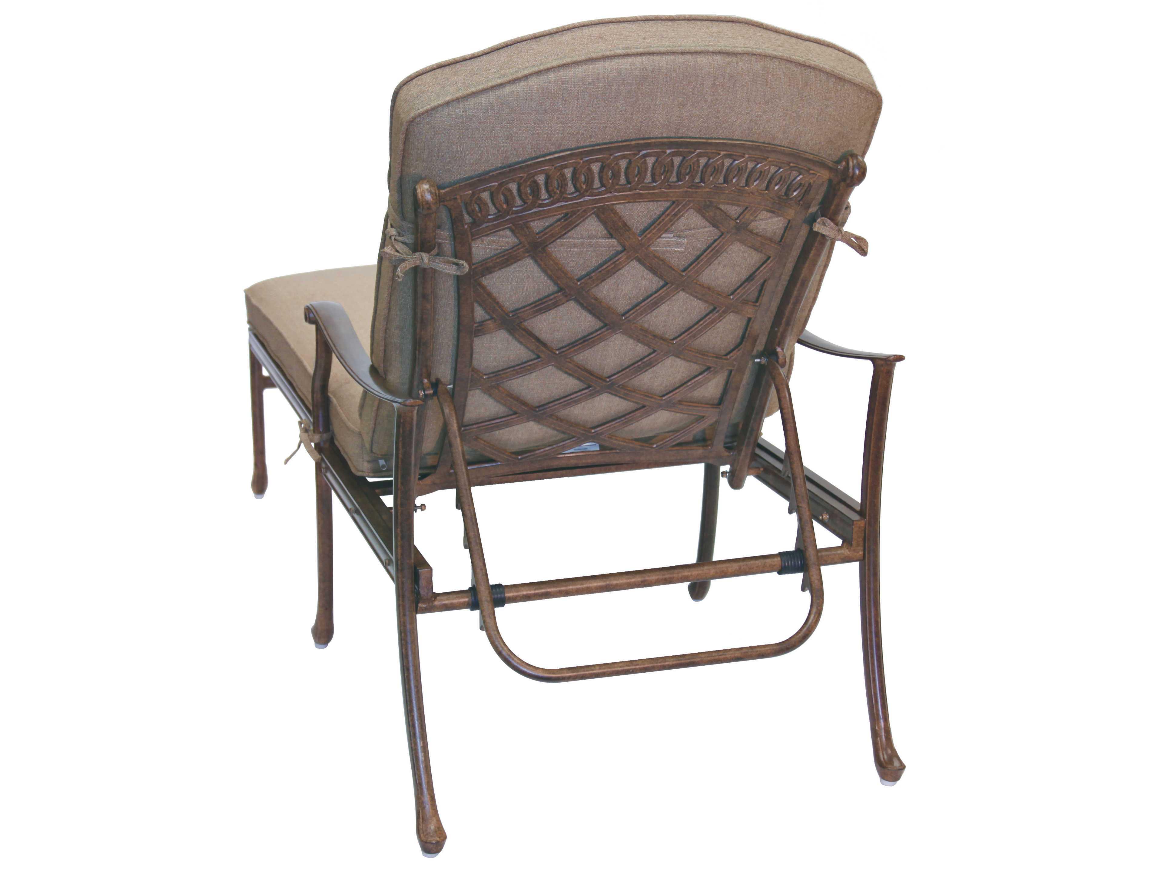 Darlee outdoor living standard sedona cast aluminum chaise for Cast aluminum outdoor chaise lounge