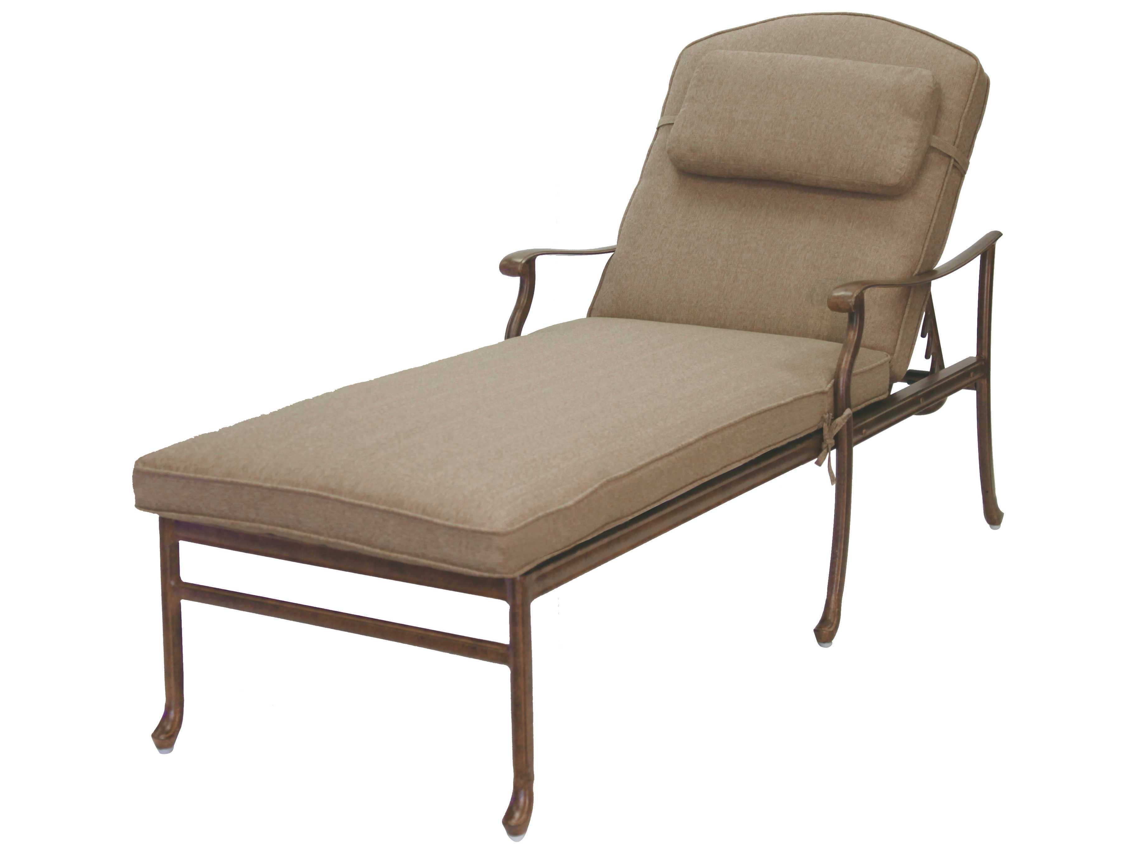 Darlee outdoor living sedona cast aluminum chaise lounge for Aluminum chaise lounge outdoor