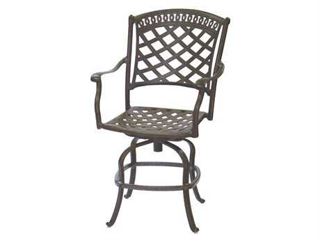Darlee Outdoor Living Quick Ship Sedona Cast Aluminum Swivel Counter Height Stool