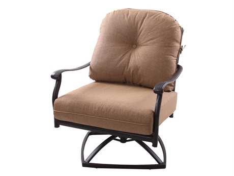Darlee Outdoor Living Standard Sedona Replacement Swivel Rocker Club Chair Seat and Back Cushion PatioLiving