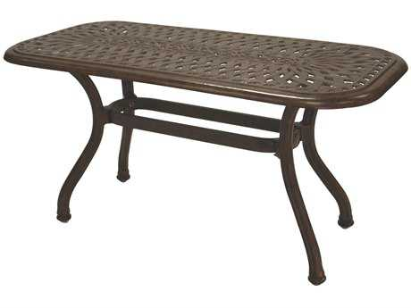 Darlee Outdoor Living Series 60 Cast-Aluminum 42 x 21 Rectangular Coffee Table PatioLiving