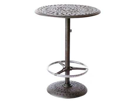 Darlee Outdoor Living Quick Ship Series 60 Cast Aluminum 30 Round Bar Table