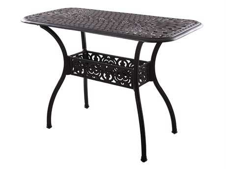 Darlee Outdoor Living Series 60 Cast Aluminum 52 x 26 Rectangular Counter Height ServingTable