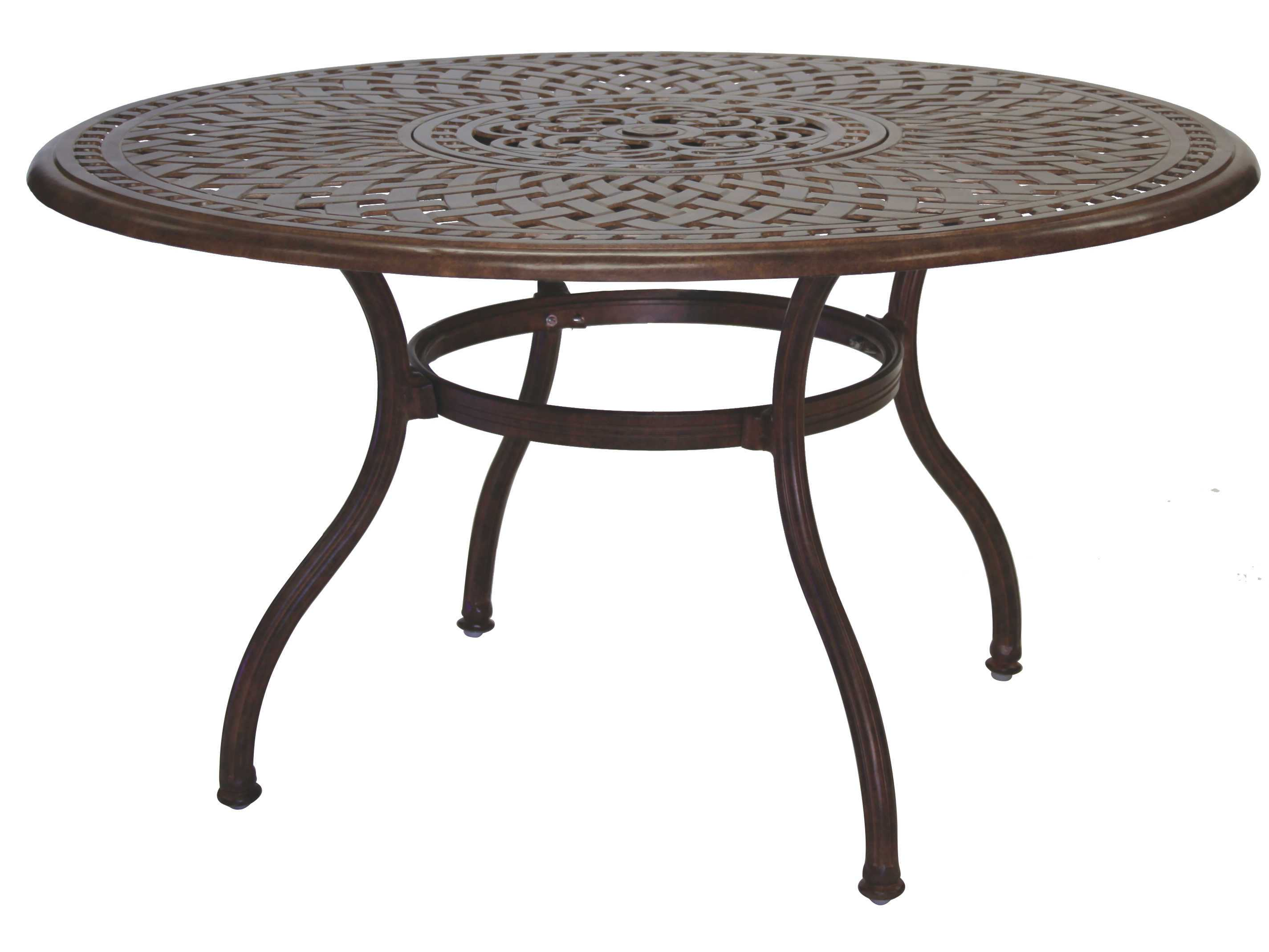Darlee outdoor living series 60 cast aluminum 52 round for Round table 52 nordenham