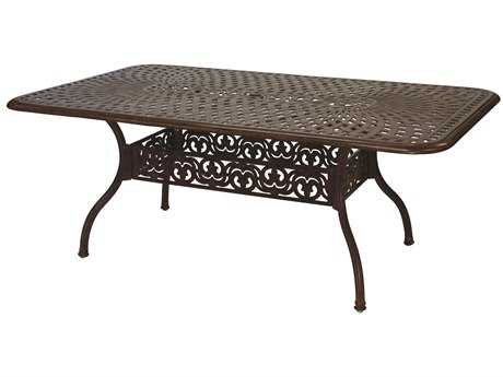 Darlee Outdoor Living Series 60 Cast Aluminum 72 x 42 Rectangular Dining Table PatioLiving