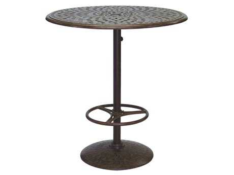 Darlee Outdoor Living Series 60 Cast Aluminum 42 Round Bar Table