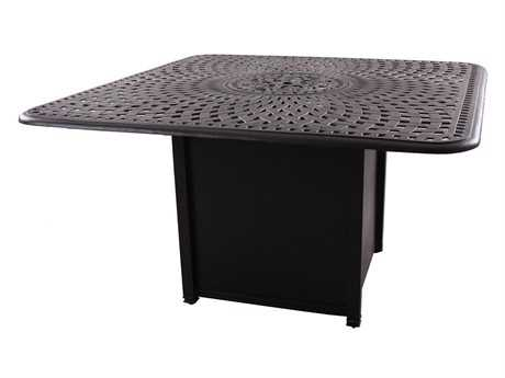 Darlee Outdoor Living Series 60 Cast Aluminum 64 Square Counter Height Propane Fire Pit Table