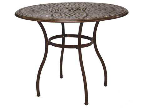 Darlee Outdoor Living Series 60 Cast Aluminum Material 52 Round Bar Table with Ice Bucket