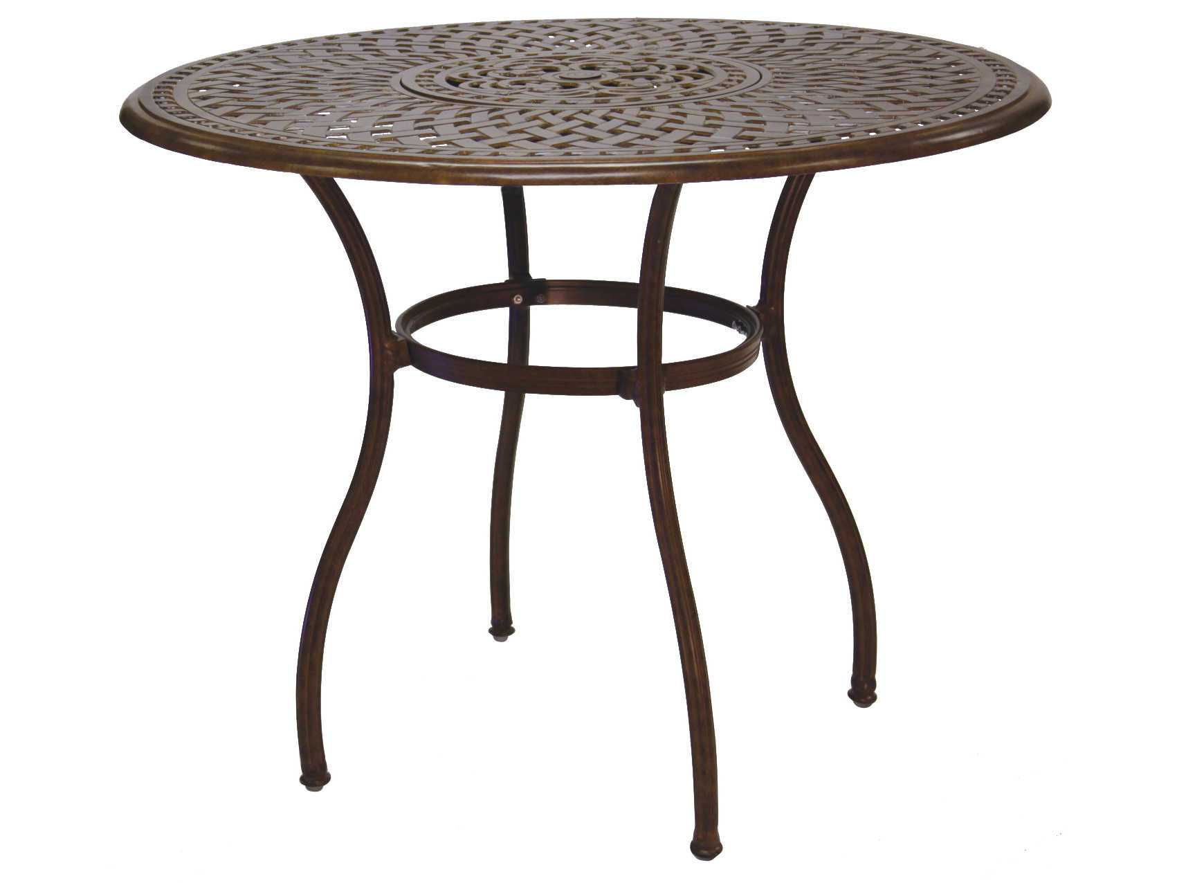 darlee outdoor living series 60 cast aluminum material 52 round bar table with ice bucket. Black Bedroom Furniture Sets. Home Design Ideas