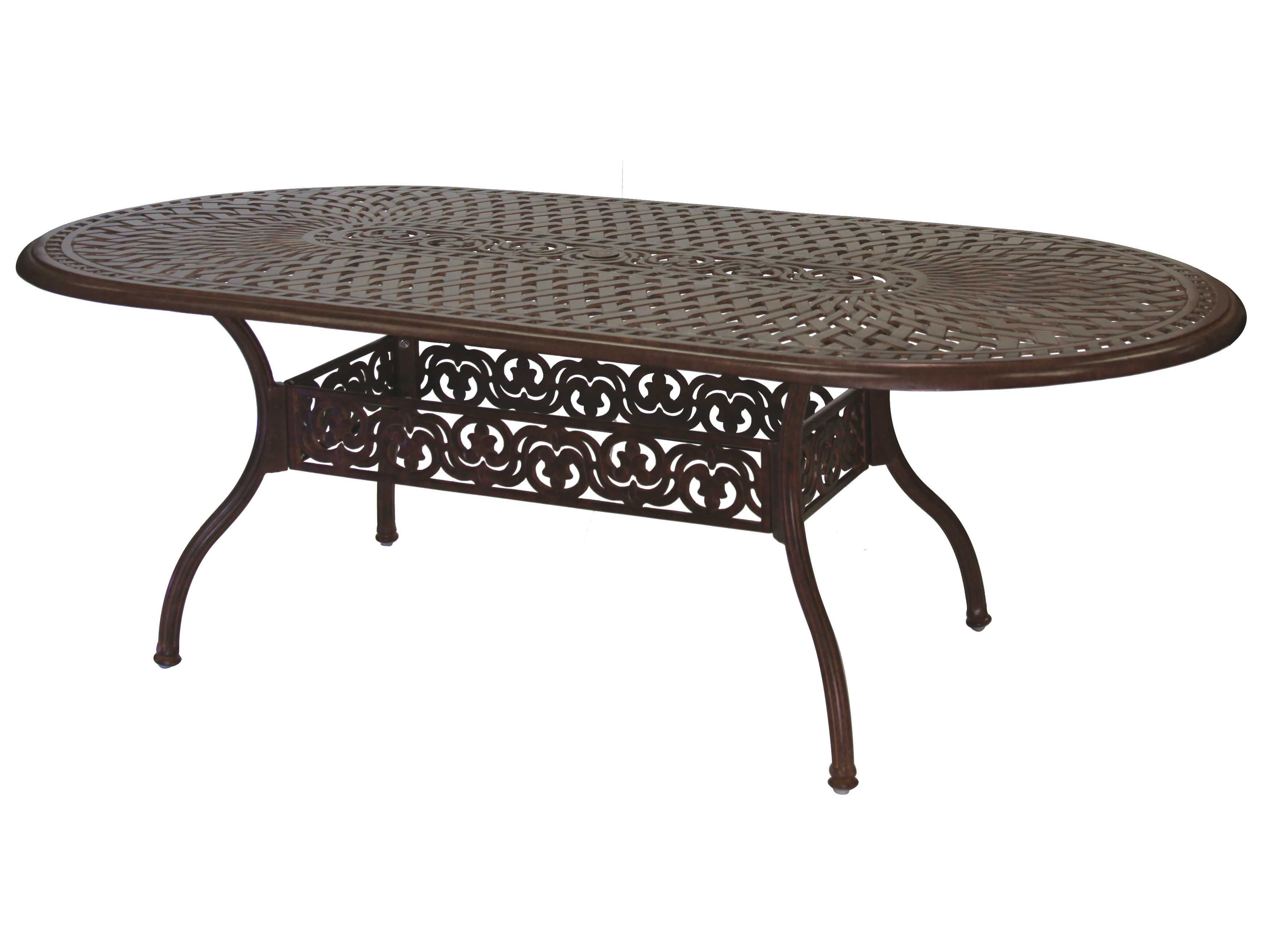 darlee outdoor living series 60 cast aluminum 84 x 42 oval dining table 201060 l. Black Bedroom Furniture Sets. Home Design Ideas