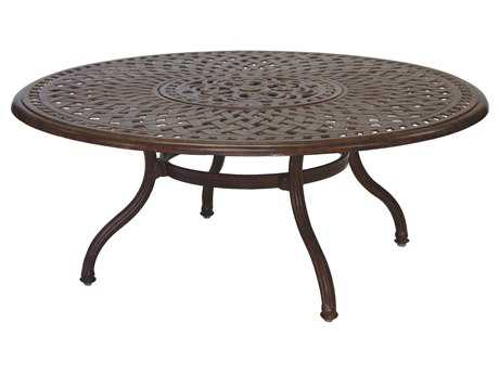 Darlee Outdoor Living Series 60 Cast Aluminum 52 Round Chat Table with Ice Bucket