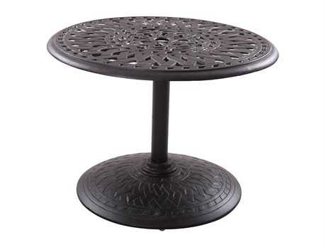 Darlee Outdoor Living Series 60 Cast-Aluminum 30 Round Bistro Table