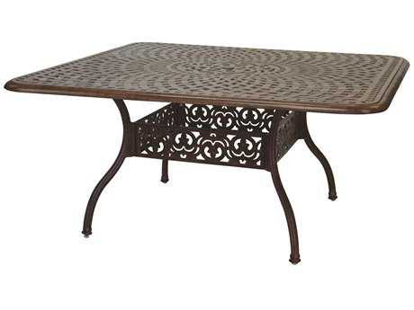 Darlee Outdoor Living Series 60 Cast Aluminum 60 Square Dining Table PatioLiving