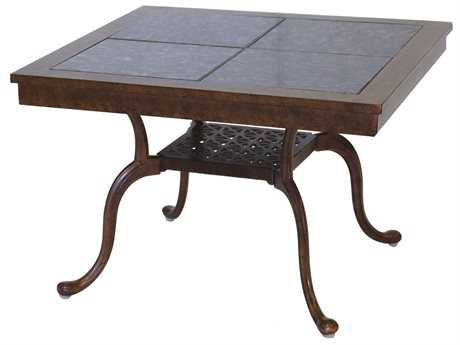 Darlee Outdoor Living Granite Top Cast Aluminum 28 Square End Table PatioLiving
