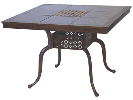 Darlee Outdoor Living Granite Top with Cast Aluminum 41'' Wide Square Dining Table PatioLiving