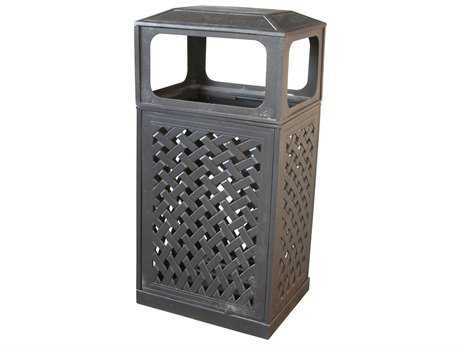 Darlee Outdoor Cast Aluminum Antique Bronze Trash Receptacle