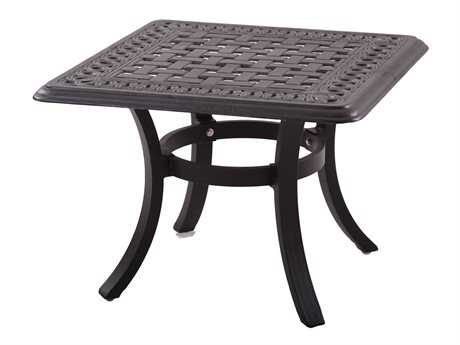 Darlee Outdoor Living Series 88 Cast Aluminum Antique Bronze 24 Square End Table PatioLiving