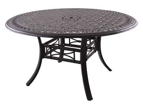 Darlee Outdoor Living Series 88 Cast Aluminum Antique Bronze 54 Round Dining Table PatioLiving