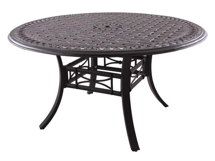 Wondrous Darlee Outdoor Living Series 88 Cast Aluminum Antique Bronze 54 Round Dining Table Beutiful Home Inspiration Xortanetmahrainfo